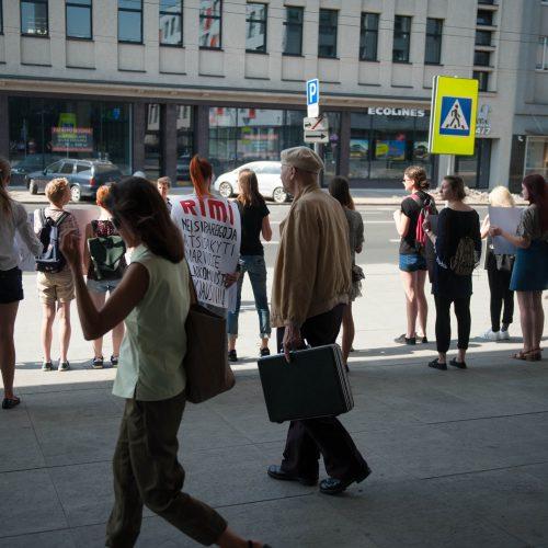Vištų gynėjų protestas Kaune  © Akvilės Snarskienės nuotr.