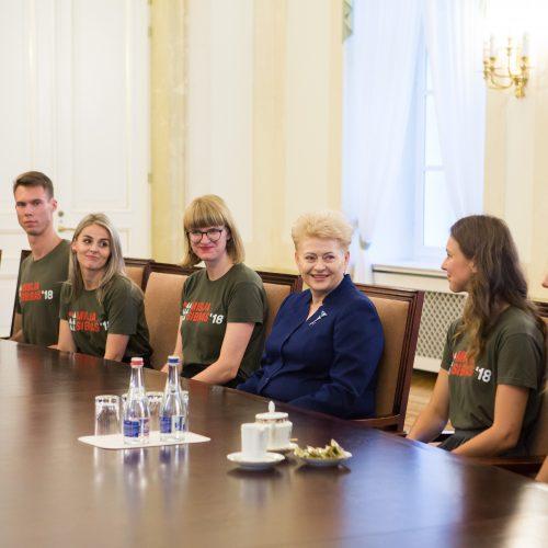 """Prezidentė susitiko su """"Misija Sibiras"""" dalyviais  © G. Skaraitienės / BFL nuotr."""