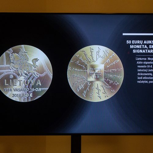 Šimtmečiui – kolekcinių monetų serija  © V. Skaraičio / BFL nuotr.