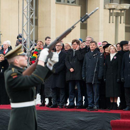 Vėliavų pakėlimo ceremonija Kovo 11-osios proga  © V. Skaraičio / BFL nuotr.