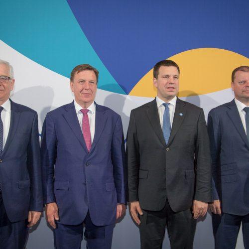 Baltijos šalių ir Lenkijos vyriausybių vadovų susitikimas Taline  © D. Janučio / LRVK nuotr.