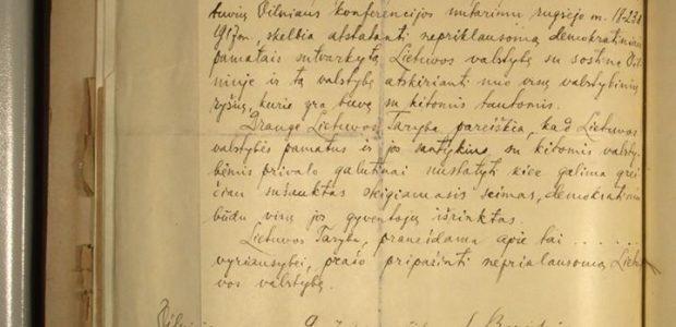Vokietijos vyriausybė patvirtina, kad rastas Vasario 16-osios aktas, sveikina Lietuvą