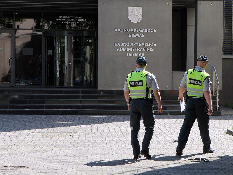 Evakuotas Kauno apygardos teismas