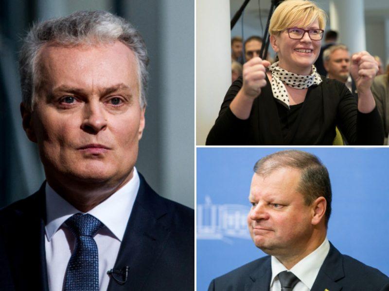 Prezidento rinkimai: trejetukas keičiasi – į priekį veržiasi I. Šimonytė