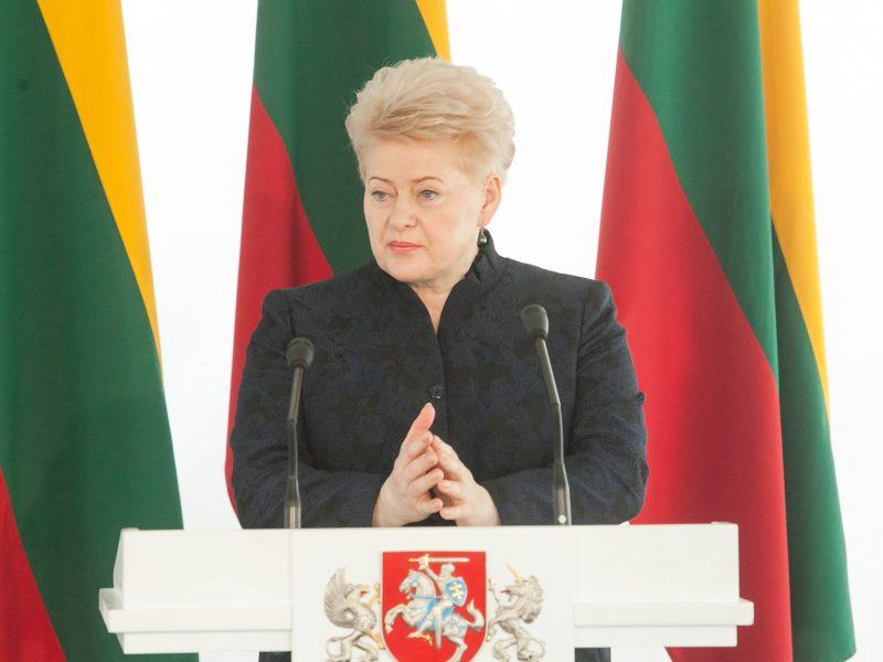 D. Grybauskaitė: didžiuojuosi Lietuva ir kiekvienu žmogumi