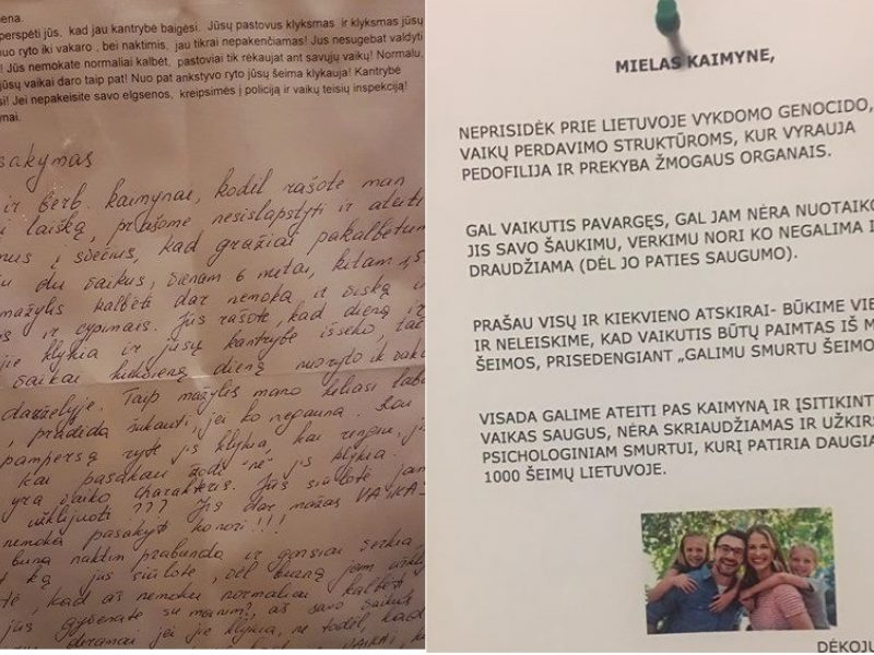 Mažamečius auginančios šeimos sulaukia laiškų: vaikas verks – kreipsimės į tarnybas