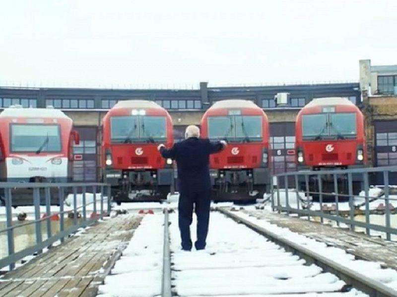 """Unikali dovana Lietuvai – """"Tautiška giesmė"""" traukinių """"balsais"""""""