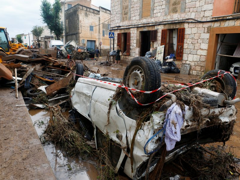 Maljorkoje staigių potvynių aukų padaugėjo iki 12