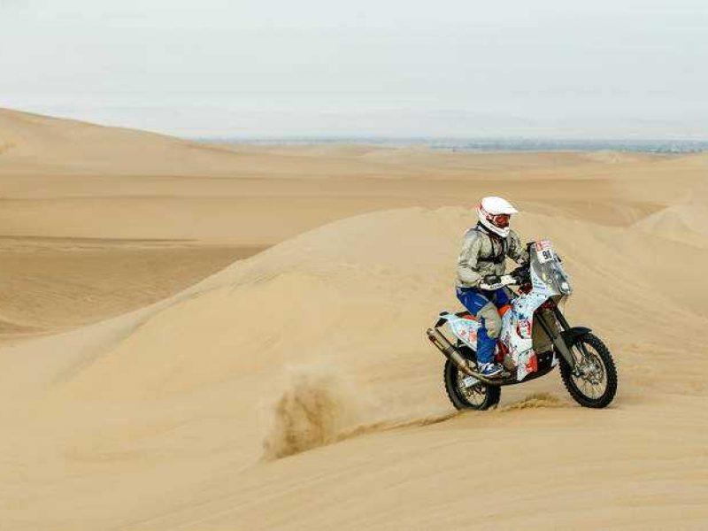 Motociklininkas B. Bardauskas įveikė trečiąjį Dakaro ralio etapą