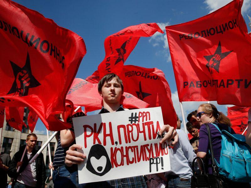 Maskvoje – protestas dėl interneto laisvės