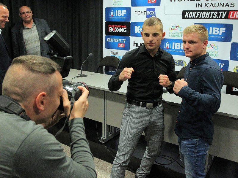 Profesionalų bokso ir bušido turnyro pristatymas