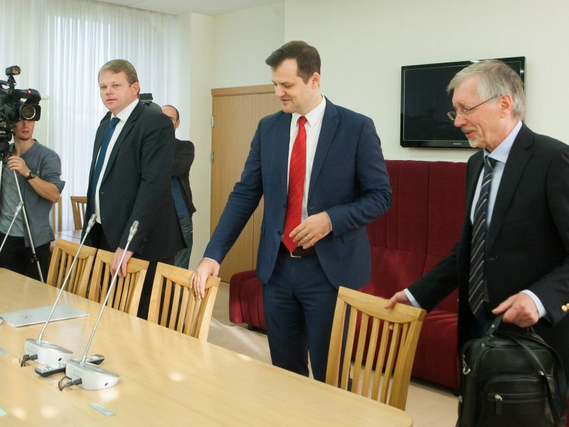 Posėdis dėl valdančiosios koalicijos