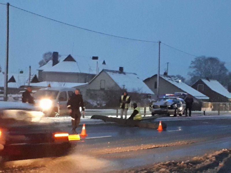Prie Kauno oro uosto – spūstys dėl avarijos