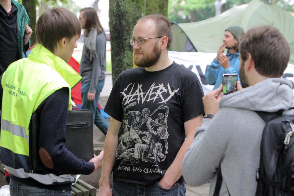 Ar ilgam protestuotojai okupavo Miesto sodą?