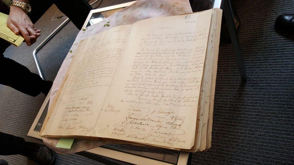 Istorinis sugrįžimas: renginyje – Vasario 16-osios akto faksimilė