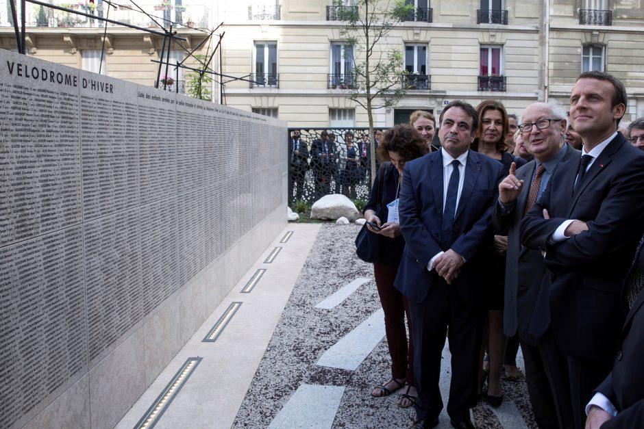 E. Macronas pasmerkė Prancūzijos vaidmenį Holokauste