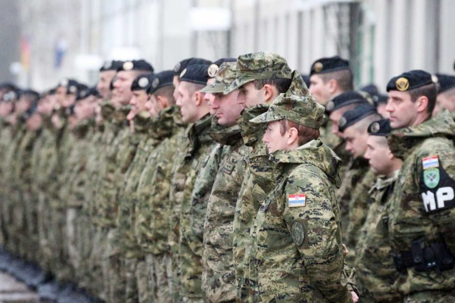 Kroatijos kariai  prisijungė prie NATO priešakinių pajėgų kovinės grupės Lietuvoje