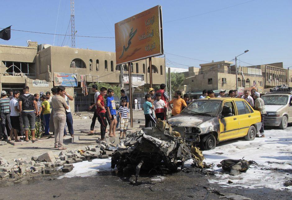 Bagdado rajone per virtinę išpuolių žuvo mažiausiai 65 žmonės