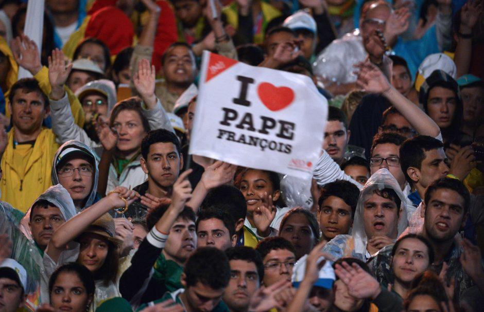 Sugedus Rio de Žaneiro metropolitenui, per popiežiaus vizitą kilo chaosas