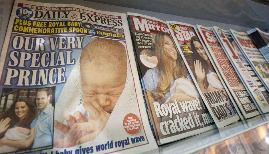 Britų spauda giria kūdikio