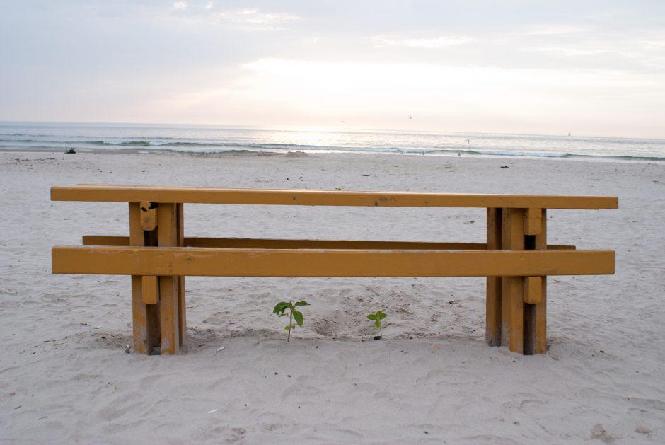 Paplūdimiai liko našlaičiais