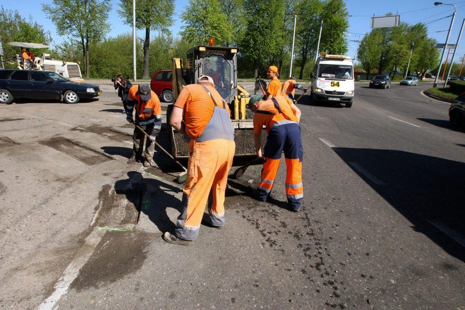 Kauno gatvių remonto darbai tęsis iki pirmųjų šalnų