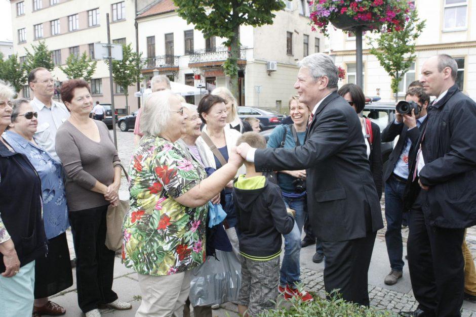 Istorinis Vokietijos prezidento apsilankymas Klaipėdoje
