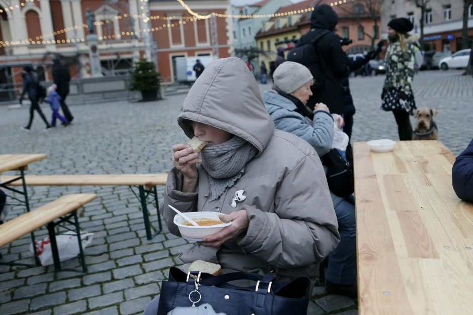 Klaipėdiečiai maltiečių sriubos paragauti nesiveržė