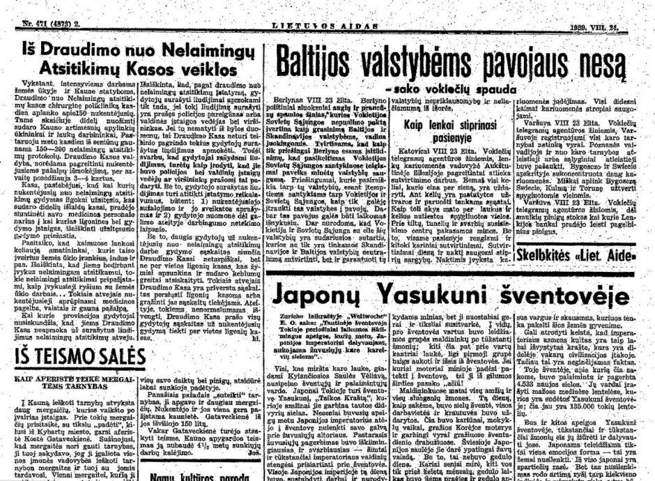Lietuvos likimas buvo paženklintas gedulo spalva