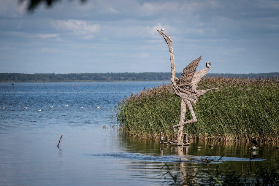 Šiaudinės skulptūros Gintaro įlankoje