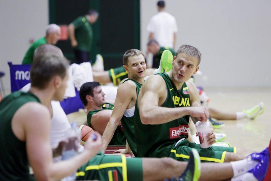 Lietuvos krepšinio rinktinės treniruotė