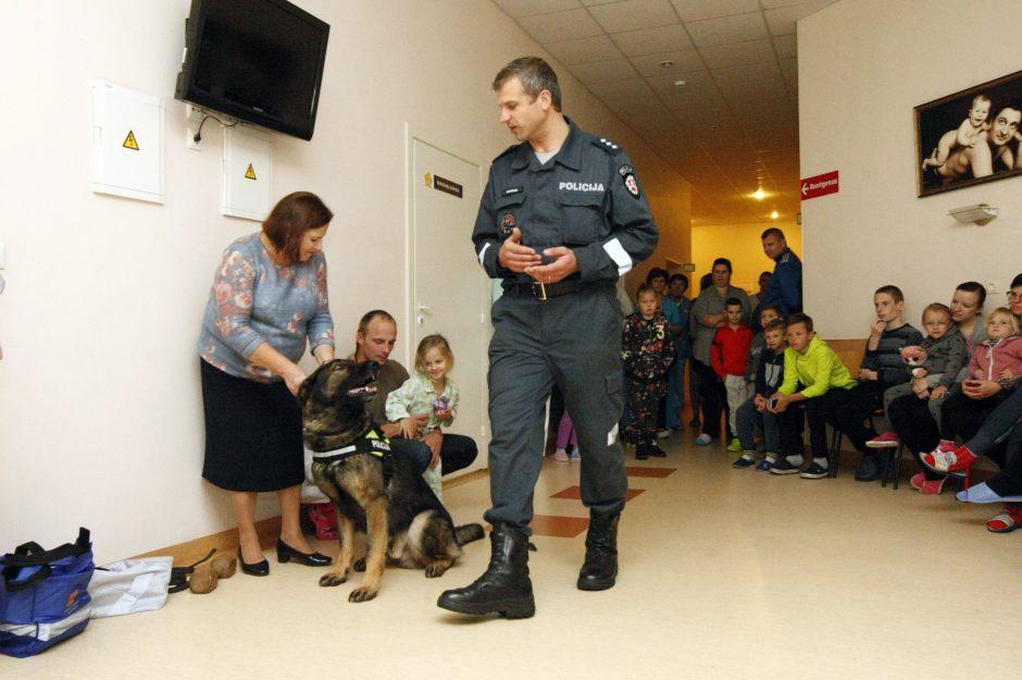 Mažuosius ligoninėje džiugino pėdsekys