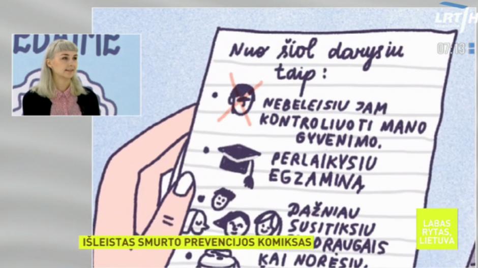 Komikse moterims papasakojo, kaip elgtis patyrus smurtą