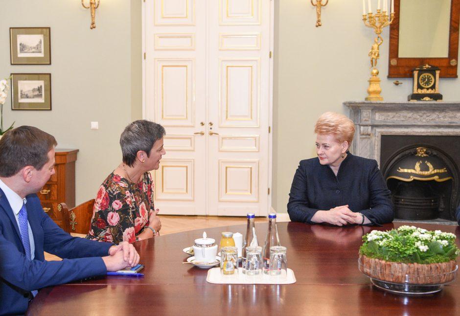 """D. Grybauskaitė: """"Gazprom"""" turėtų kompensuoti Lietuvai už brangias dujas"""