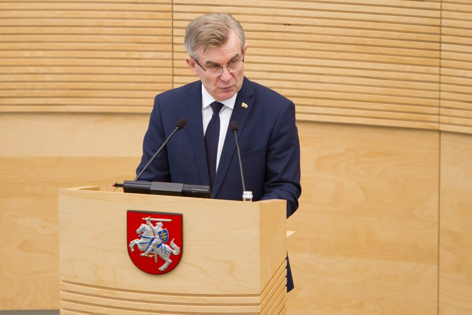 Seimo pirmininkas pritaria apkaltoms M. Basčiui ir K. Pūkui