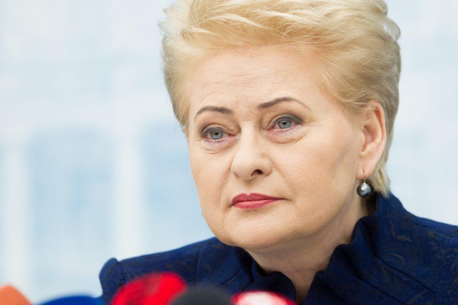 """D. Grybauskaitė: niekam """"stogų"""" nedalinau"""