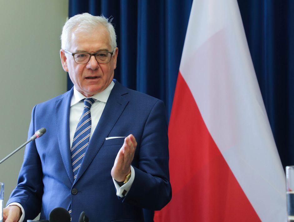 Į Lietuvą atvyko Lenkijos užsienio reikalų ministras