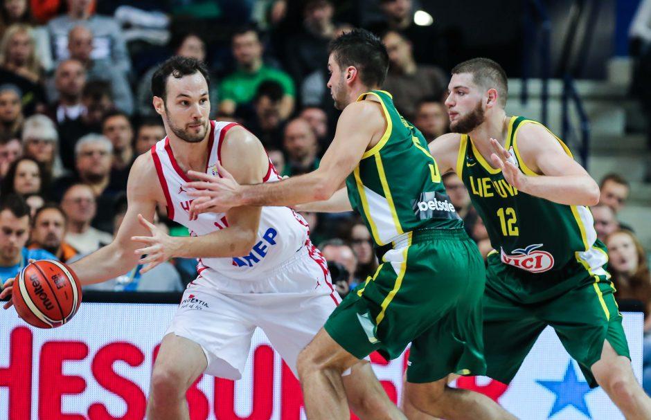 Lietuvos krepšinio rinktinė nepaliko vilčių kroatams