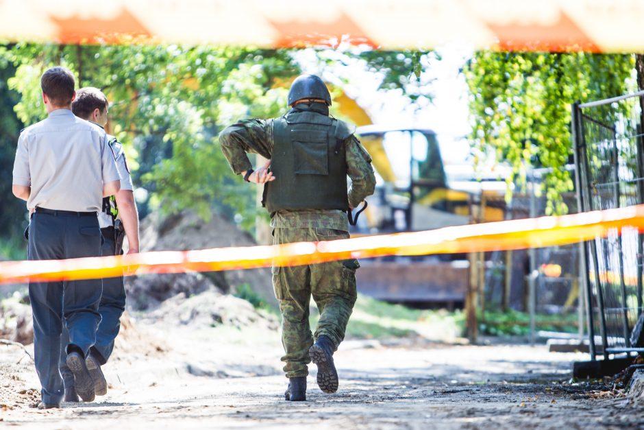 Prie Kauno klinikinės ligoninės darbininkai iškasė du pavojingus sprogmenis