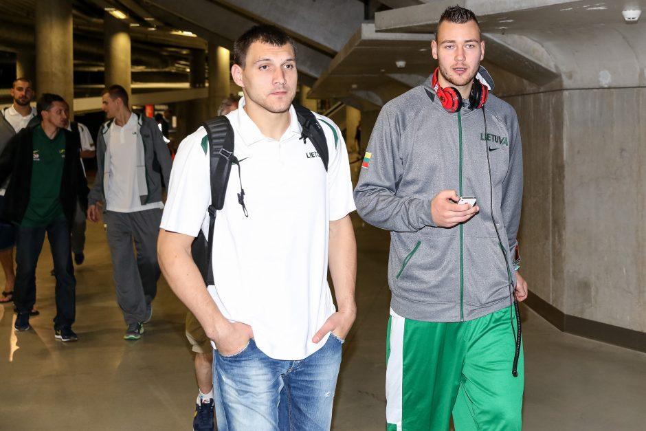 Krepšinio rinktinė išlydėta į Eurobasket