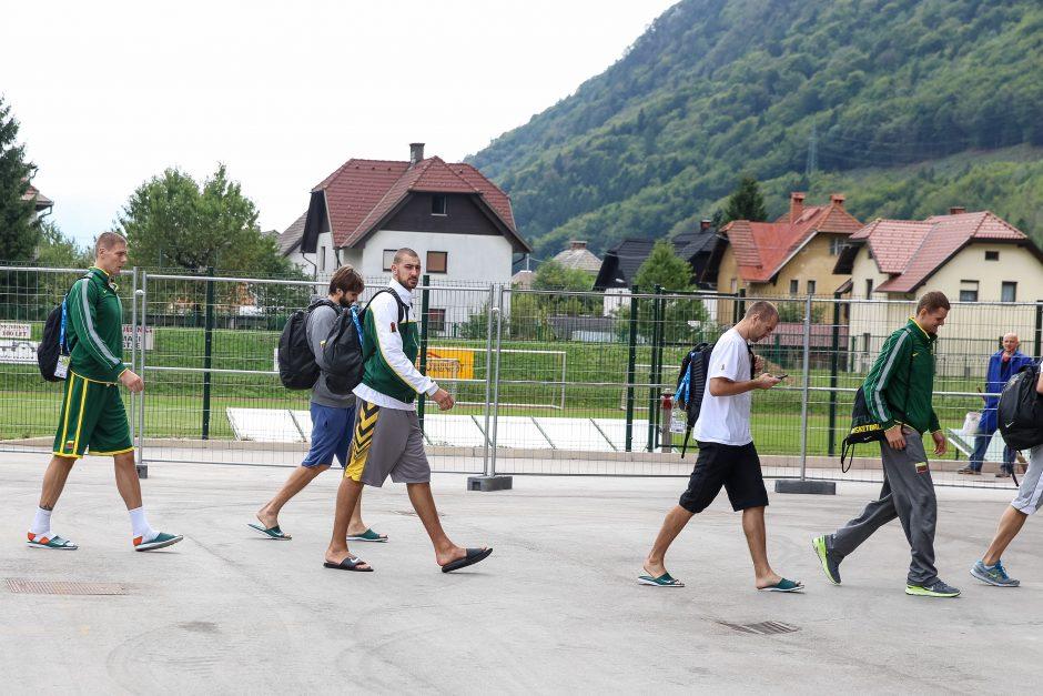Rinktinės treniruotė prieš mačą su Serbais