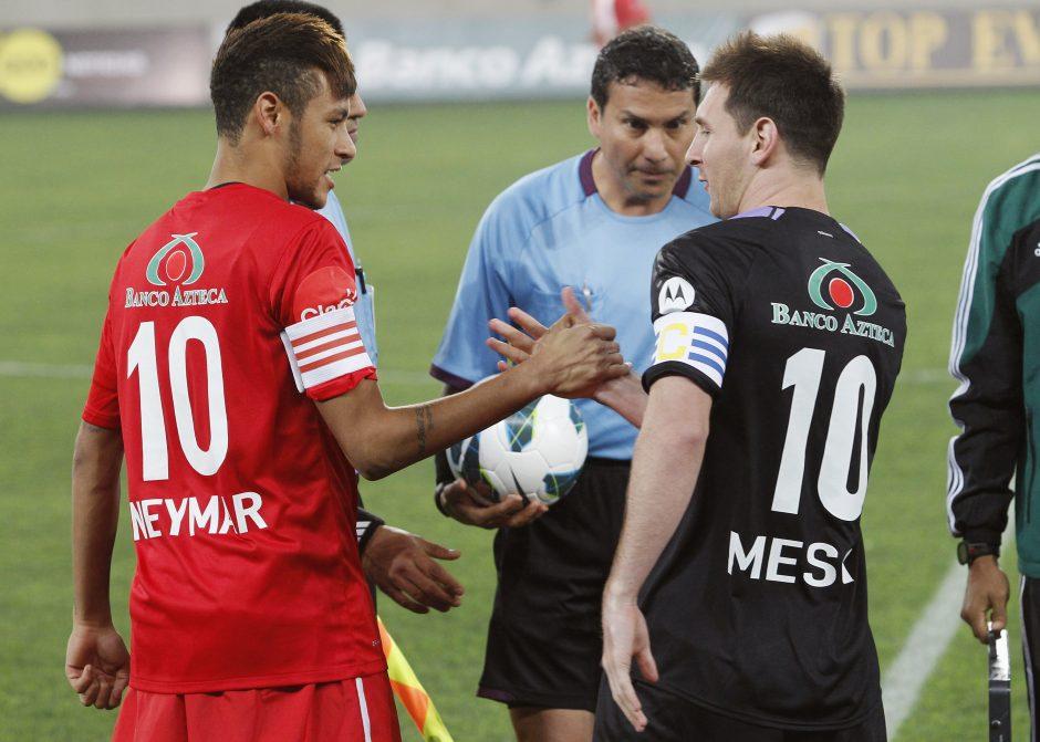 Neymaras tikisi su L. Messi sudaryti istorinį duetą