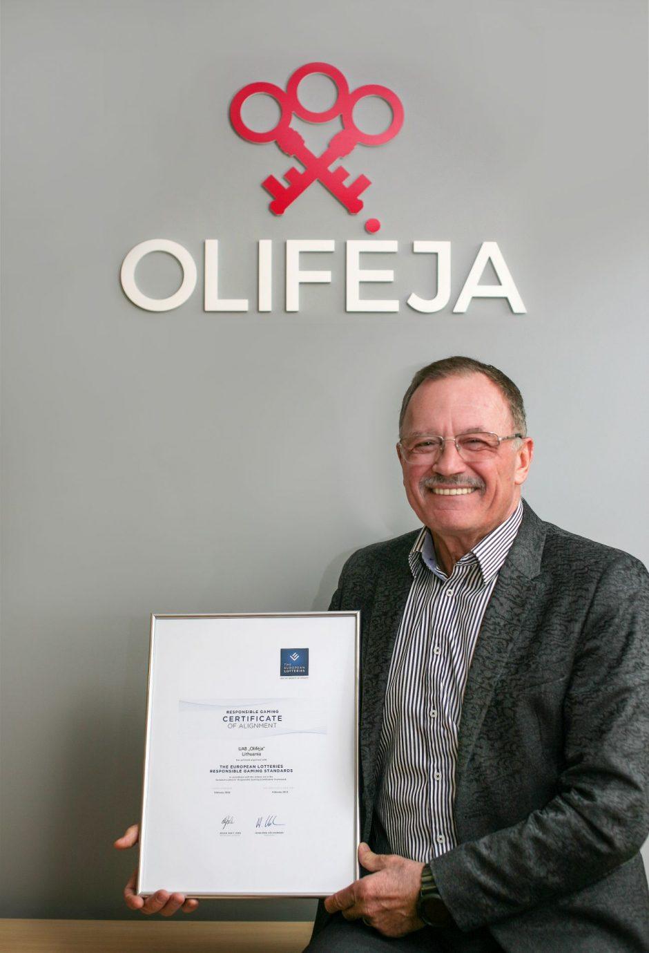 """Europos loterijų asociacija:""""Olifėjos"""" loterijos atitinka Atsakingo žaidimo standartą"""