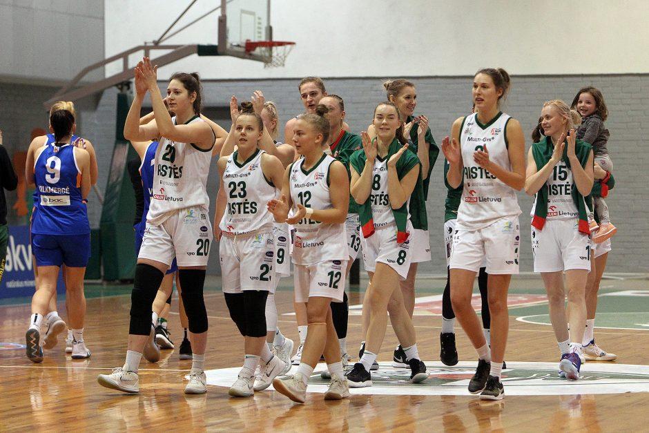 "Moterų lyga: ""Aistės-LSMU"" – ""Vilkmergė"" 70:42"