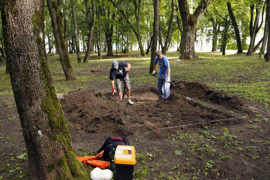 Skulptūrų parke stebino archeologai
