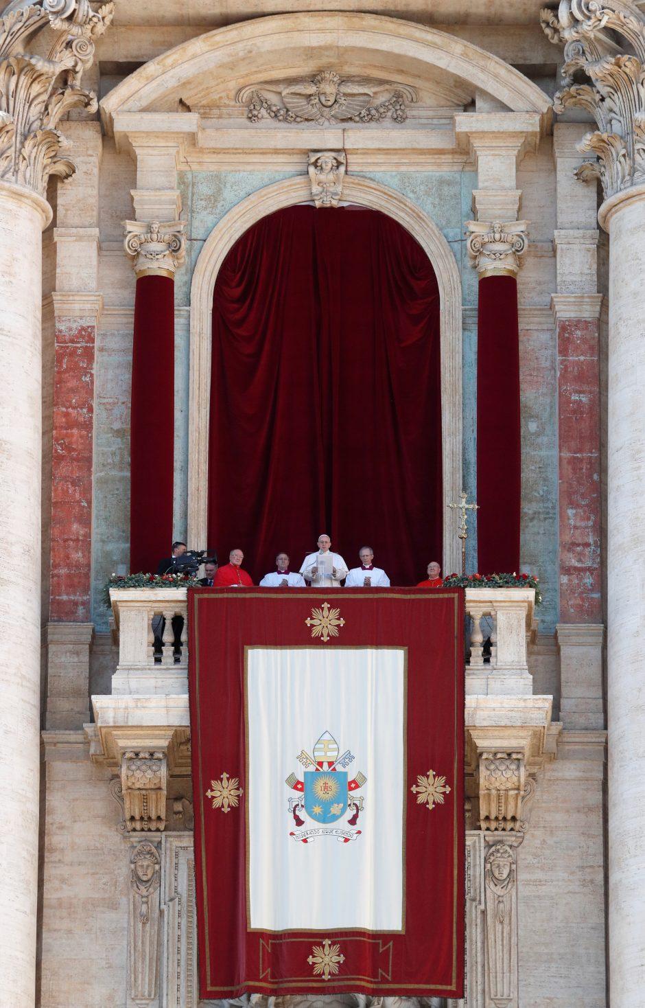 Popiežiaus kalėdinis kreipimasis