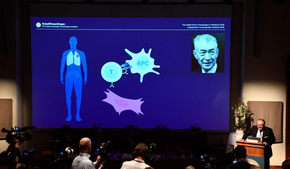 2018-ųjų Nobelio medicinos premija paskirta mokslininkams už vėžio terapiją