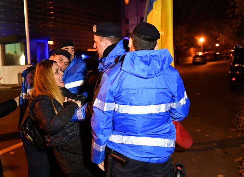 Tūkstančiai rumunų vėl protestavo prieš teismų reformas