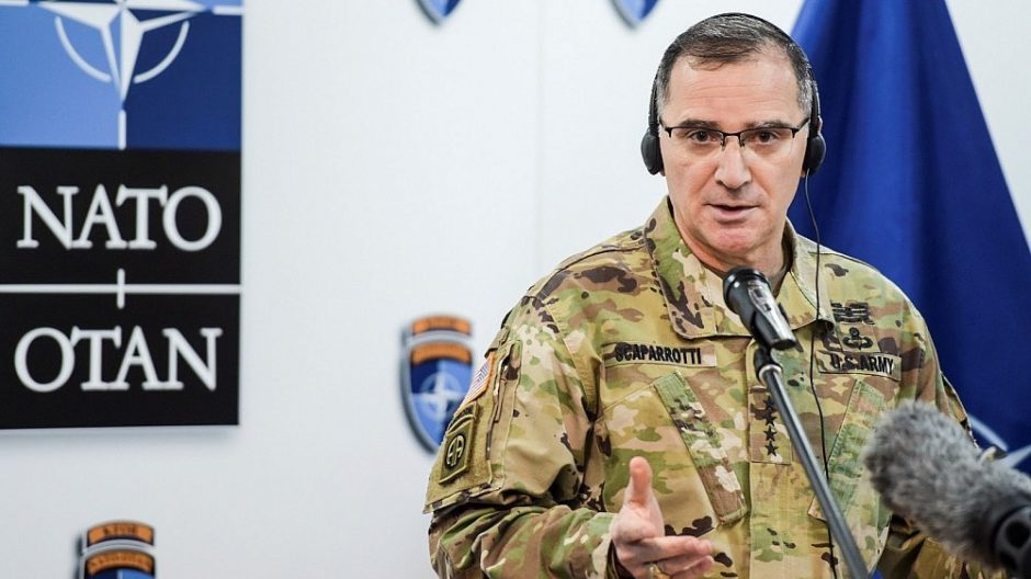 NATO pajėgų Europoje vadas: Rusija vykdo destabilizavimo kampaniją