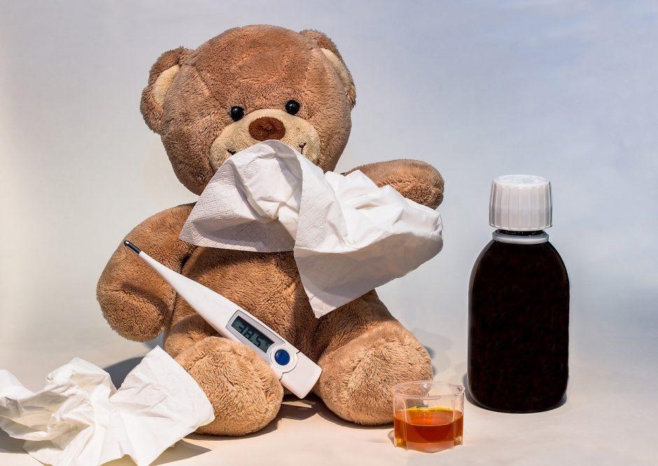 Sergančiųjų peršalimo ligomis ir gripu – gerokai mažiau